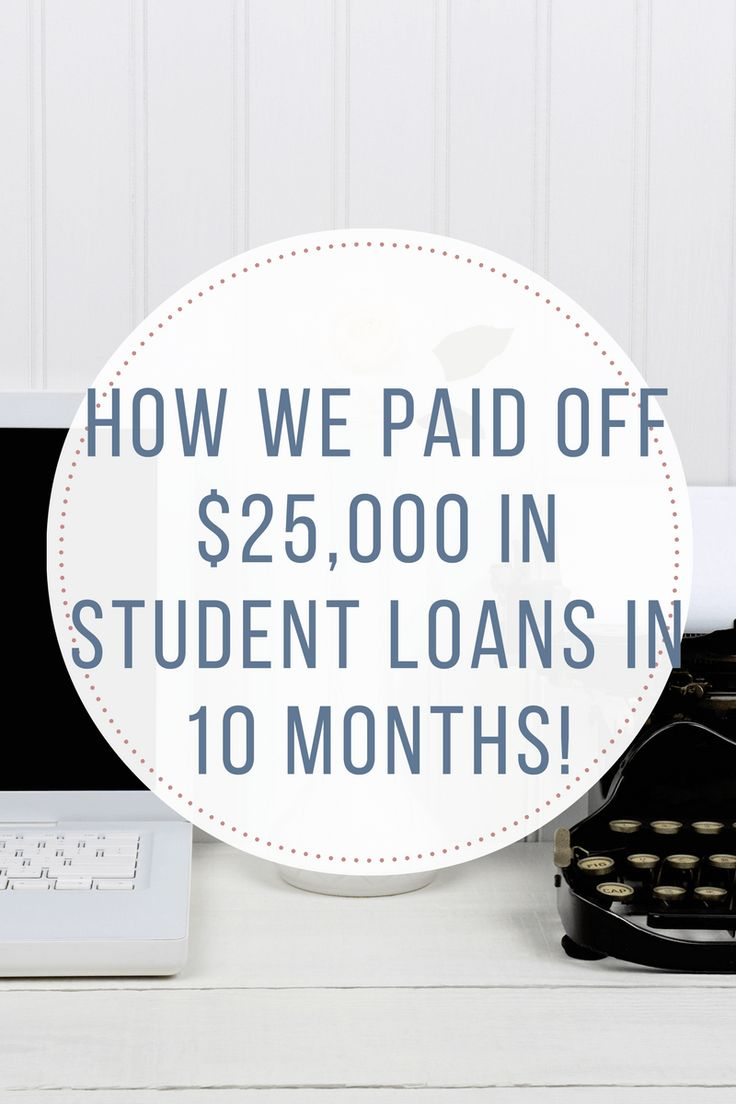 How we paid off $25,000 in student loans in 10 months! http://www.thebudget-girl.com/2017/01/08/how-we-paid-off-25000-in-student-loans-in-10-months/