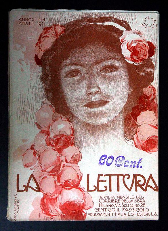La lettura - Italia 1911 Aleardo Terzi    #TuscanyAgriturismoGiratola
