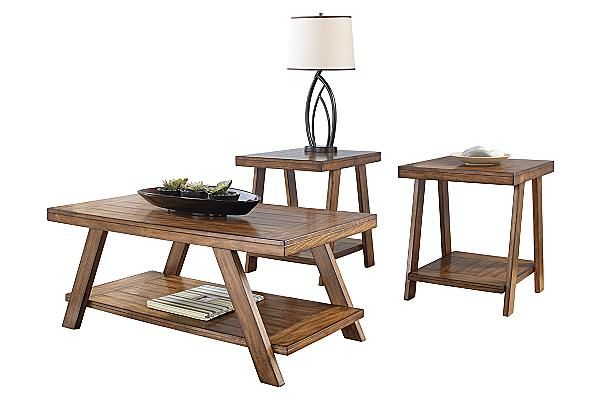"""The Bradley Accent Table Group from Ashley Furniture HomeStore (AFHS.com). Using a warm finish and a rich rustic design, the """"Bradley"""" accent table collection creates a functional table collection that perfectly captures the beauty of finely crafted furniture."""