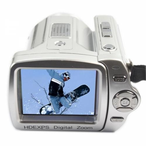"12MP 8X Digital  Zoom Camcorder  This camcorder contains a Multi scenes Sensitivity, 12 million pixels, 5.1MP CMOS sensor, 12MP Image resolution, F / 3; f = 7.45mm lens, 8x digital zoom, 2.4"" LCD screen Display size and 32M built-in storage space."