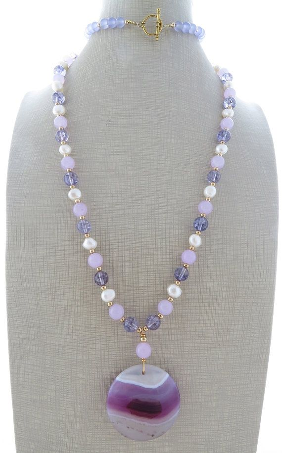 818 best necklace ideas images on pinterest jewellery making amethyst necklace long pendant necklace beaded by sofiasbijoux audiocablefo