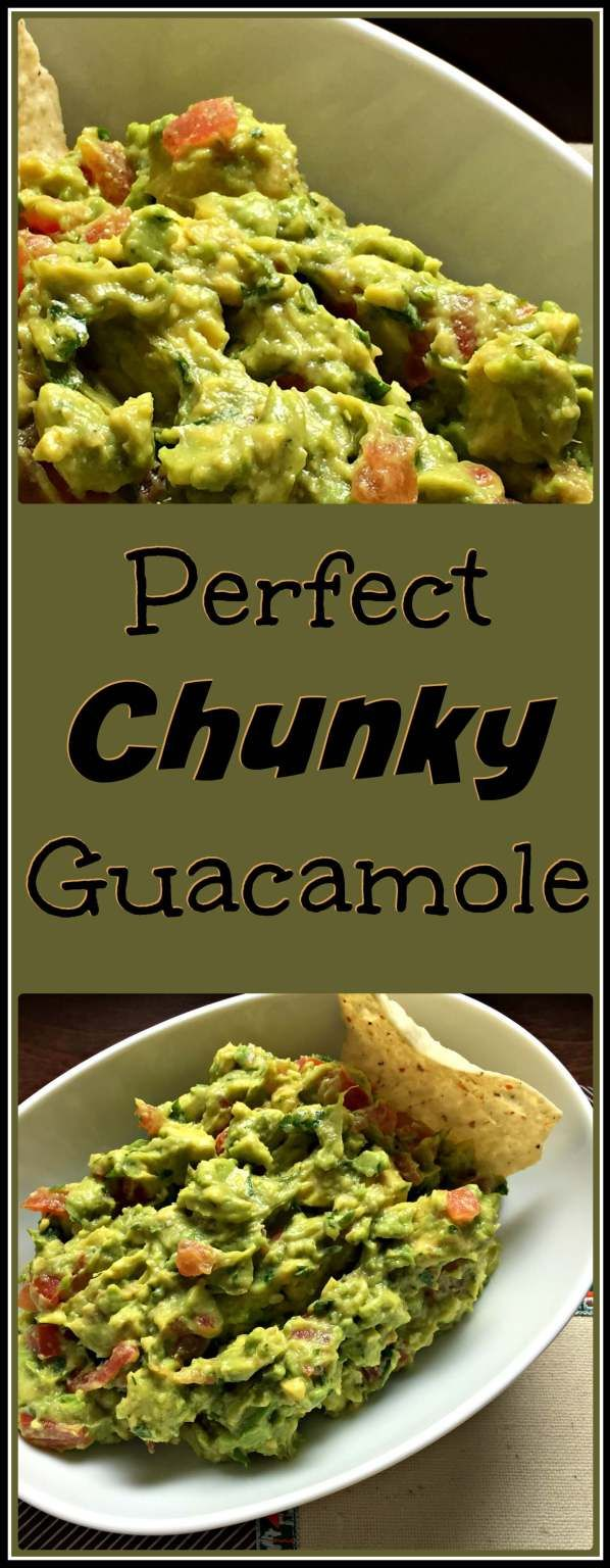Celebrate Cinco de Mayo with this Perfect Chunky Guacamole Recipe. This guac is bursting with flavor & comes together quickly and easily.