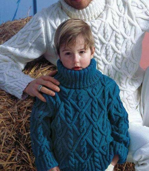 Объемный узор спицами для детских вещей (1)