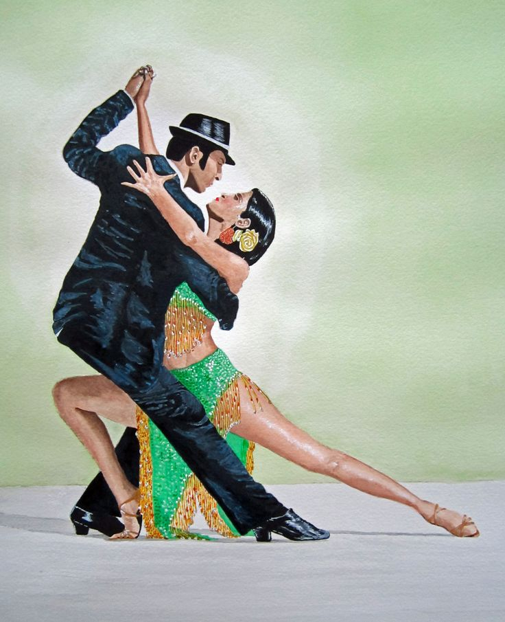 Tango painting by neil and cazy arts