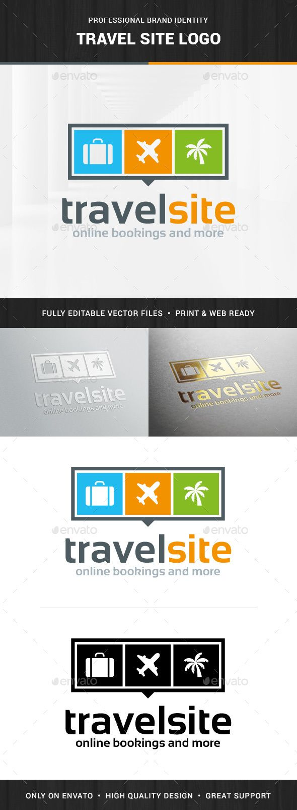 Travel Site Logo Template — Vector EPS #vector #travel • Available here → https://graphicriver.net/item/travel-site-logo-template/14211564?ref=pxcr