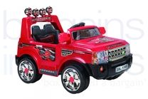 12V Rangie Styled Ride On Car - Red  (Twin 6V)