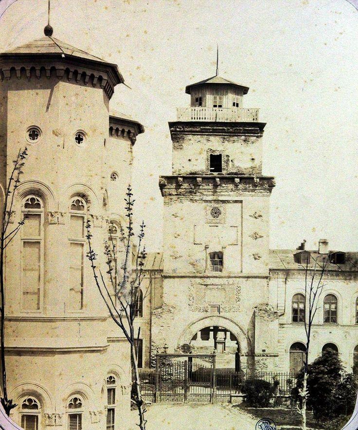 Carol Popp de Szathmári, Turnul Coltei si Palatul Sutu pe stanga. 1867