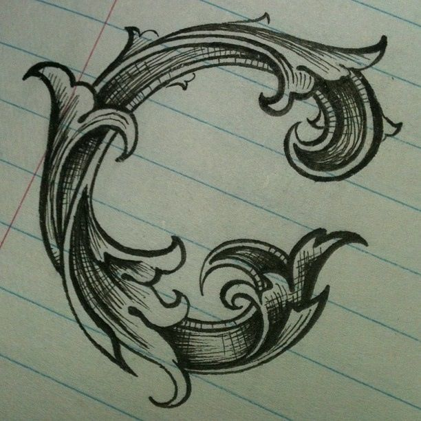 597 best images about ornaments scrolls and ancanthus for Letter tattoos on hand