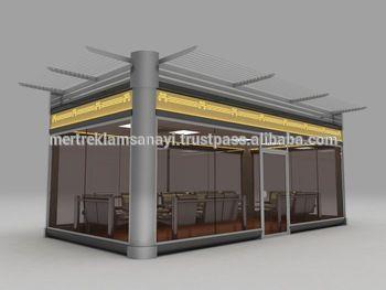Fancy VIP WAITNG LOUNGE Outdoor Kiosk Outdoor Kiosk Modular Kiosk Indoor candy design Ice cream waffle
