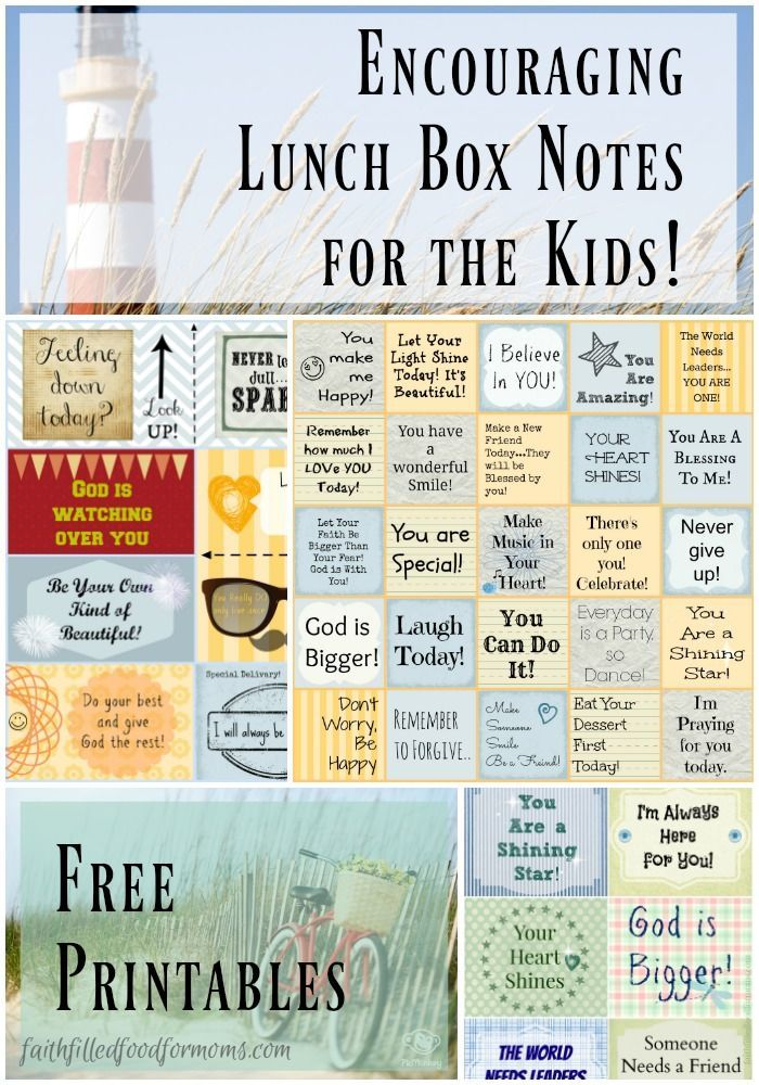 Surprise those kiddos in the middle of the day with a sweet Lunch Box Love Note from you! Great for leaving around the house too! Printable