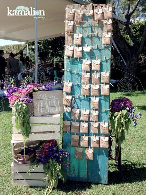 www.kamalion.com.mx - Decoración / Vintage / Rustic / Purple & Blue / Morado & Azul / Decor / Flores / Flower / BuscaTuMesa / Letrero / Detalles.