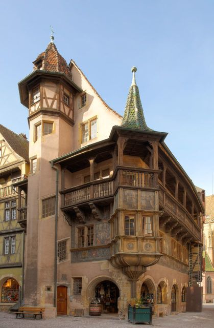 Maison Pfister, Colmar, Alsace, France. The house can easily be spotted in Howl's Moving Castle. Photo Credit