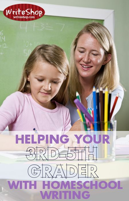 Helping your 3rd-5th grader with homeschool writing: The best ways to teach your 3rd-5th grader homeschool writing: what to do and what to expect.