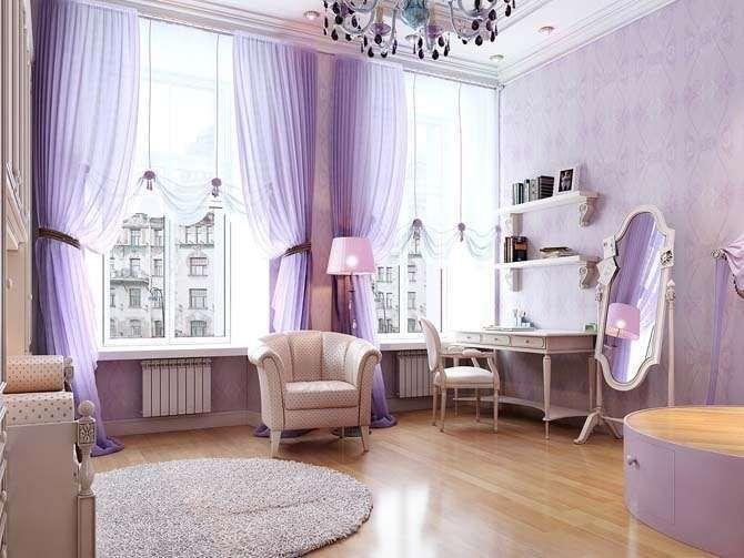 Idee per arredare la camera da letto con il color lavanda - Camera da letto elegante