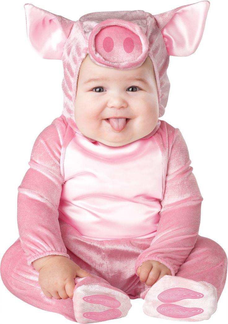 Dit premium klein varken kostuum voor baby's zal ideaal zijn als carnavalskleding om uw kind te veranderen in een boerderijdier! - Nu verkrijgbaar op Vegaoo.nl