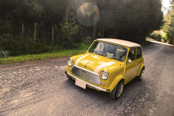 Mini Cooper classic yellow-wish you were mine