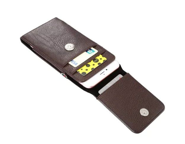 Verticial Rotary Man Belt Clip Strap Leather Mobile Phone Case Card Pouch For Asus Zenfone 3 Max ZC520TL,3 Laser ZC551KL
