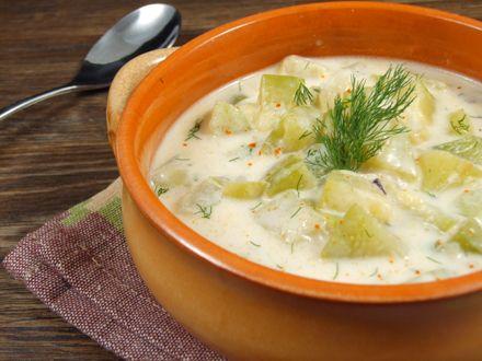 Supa rece de dovlecei