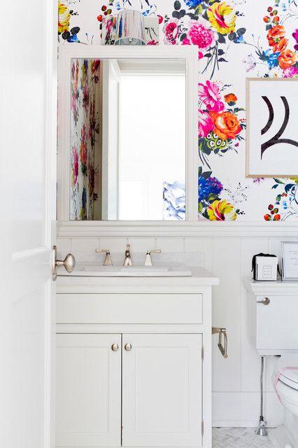 Amrapali peony wallpaper Powder room wallpaper, Bathroom