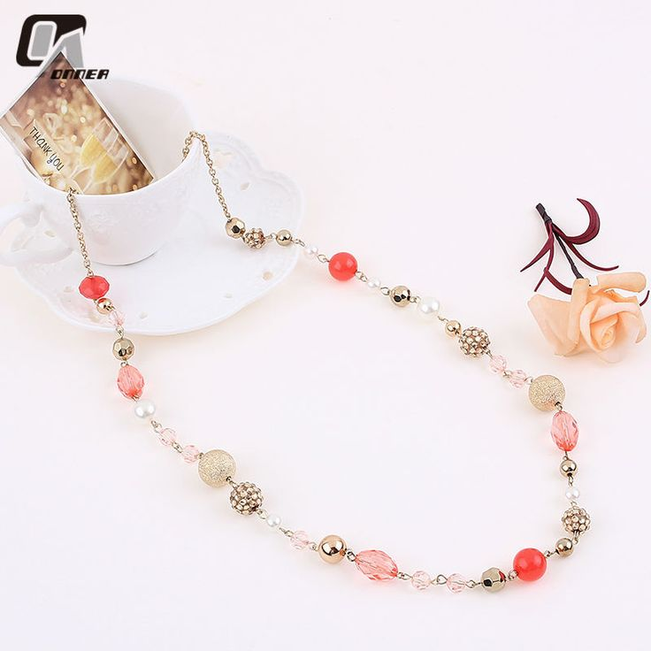 Find More Chain Necklaces Information about Women Necklace Colorful Crystal Beaded Pendant Necklaces 2015 Bohemian Style Long Necklace Sweater Chian Women Gifts Jewelry,High Quality necklace net,China necklace ideas Suppliers, Cheap necklace fastener from Vogue Fashion Jewelry Co.,Ltd on Aliexpress.com