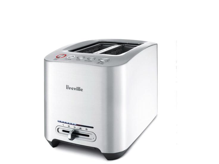 Die-Cast 2-Slice Smart Toaster™ - Motorized one-touch technology. Mechanized lowering for gentler handling.