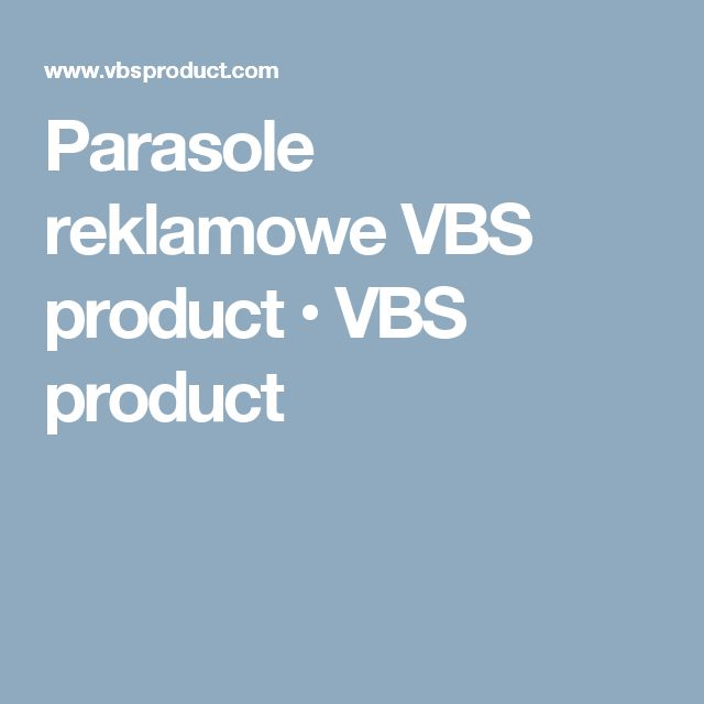 Parasole reklamowe VBS product • VBS product