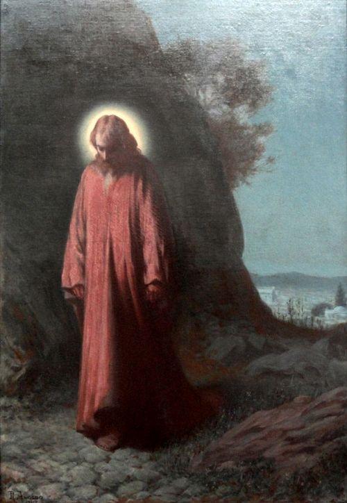Rodolfo Amoedo (1857–1941): Jesús en el huerto de los olivos, 1917.