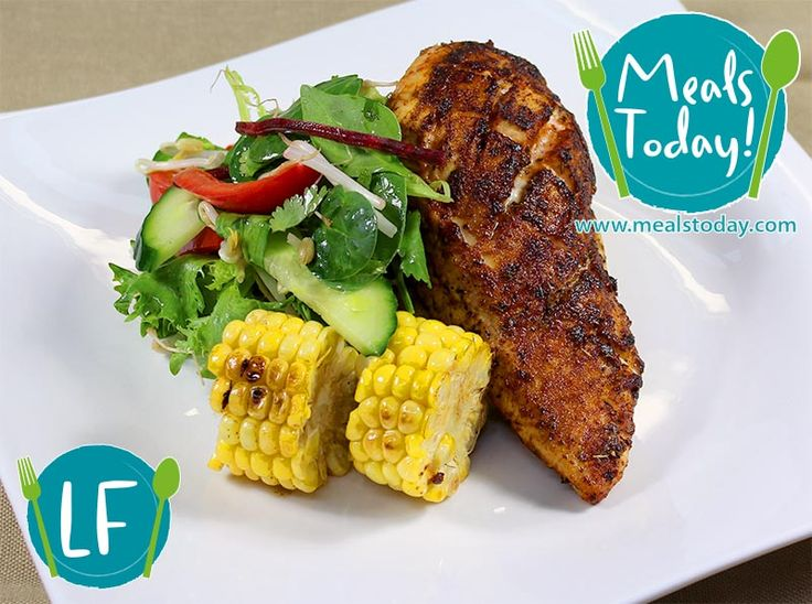 Louisiana Cajun Chicken with fresh Salsa style Salad with hints of cooling Lime and Mint  Available to order now, for delivery on Tue 18th November www.mealstoday.com    #mealstoday