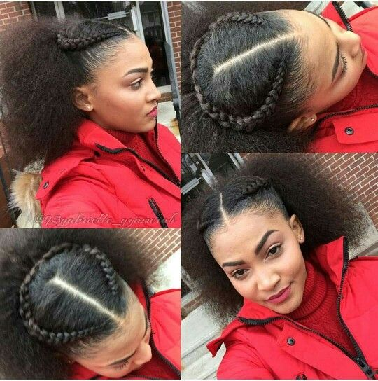 Easy, relaxed hairstyle