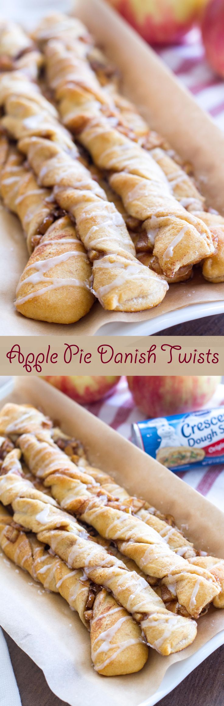 This easy apple danish recipe can be ready in under 30 minutes! Breakfast has never tasted better!