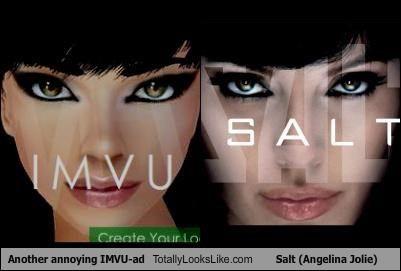 Another annoying IMVU-ad Totally Looks Like Salt (Angelina Jolie)