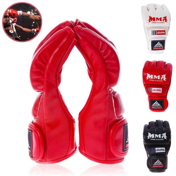 Hot Sell Half Sanda Mma Boxing Gloves Training Fights Scattered Finger Karate Gloves jiu jitsu boks eldiveni taekwondo equipment