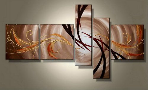 amazonsmile: wieco art abstract oil paintings for living room