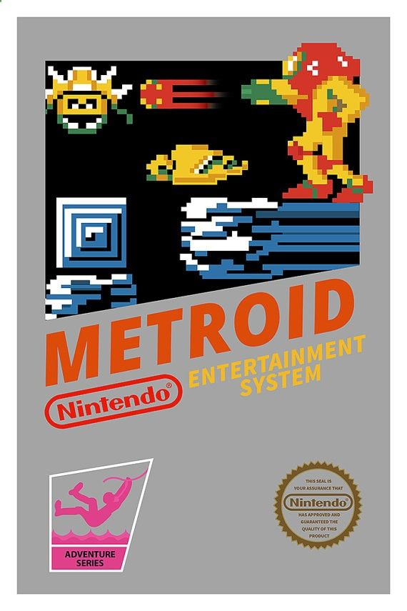 Metroid Poster Nintendo 8bits Nes Video Game By Geekyprints Geim