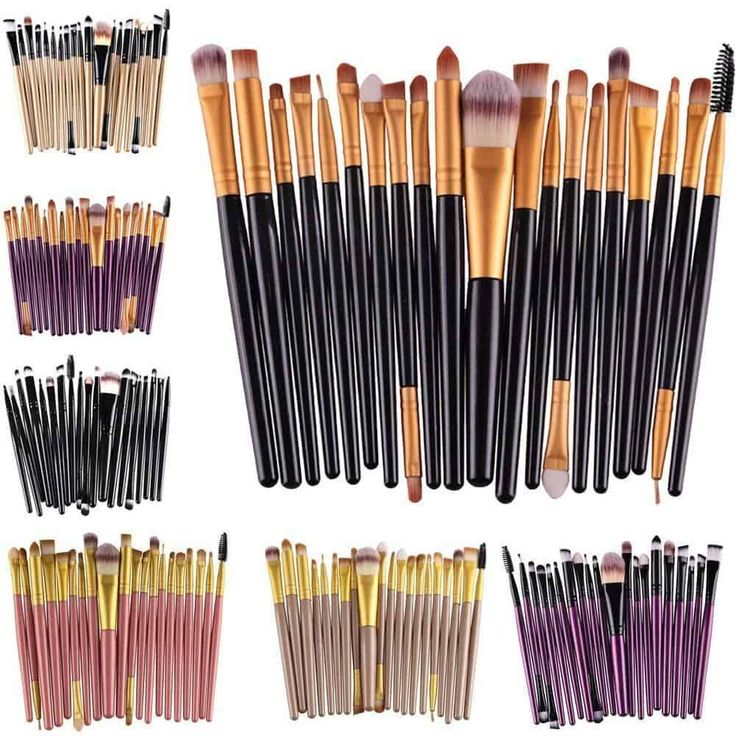 Facentials Professional 20pcs Makeup Brushes Set