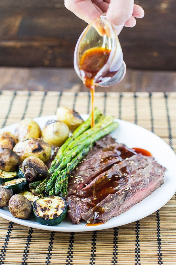 Hibachi Steak straight from the grill with a sweet teriyaki glaze and wasabi-crusted potatoes. Better in every way than your local hibachi restaurant!