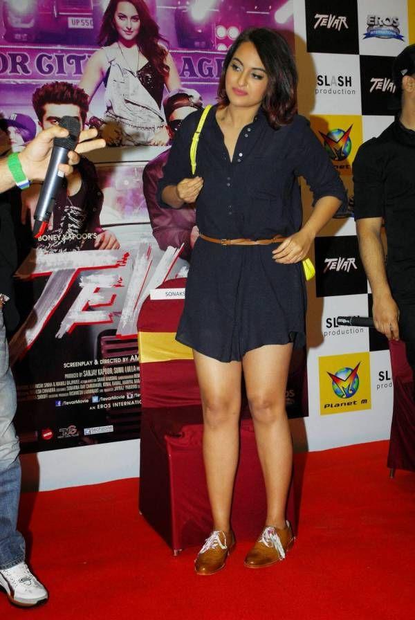 Actress Sonakshi Sinha Latest Cute Hot Black Mini Skirt