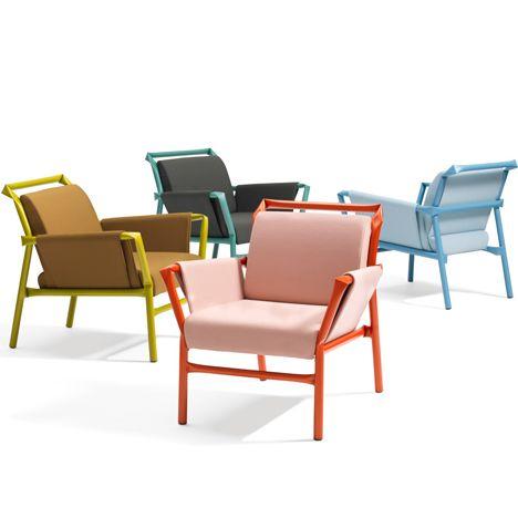 Osko+Deichmann extends kinked steel furniture range for Blå Station