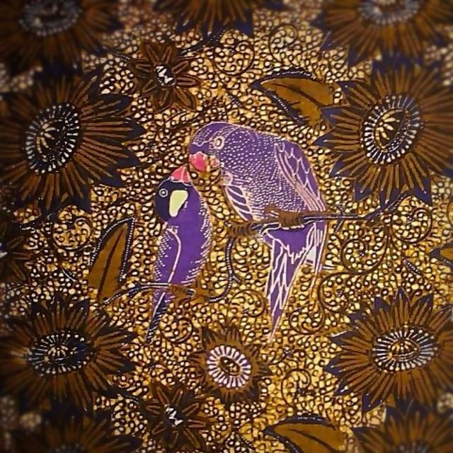 Batik Sogan Lawas - Gelatik & Nuri - Indonesia