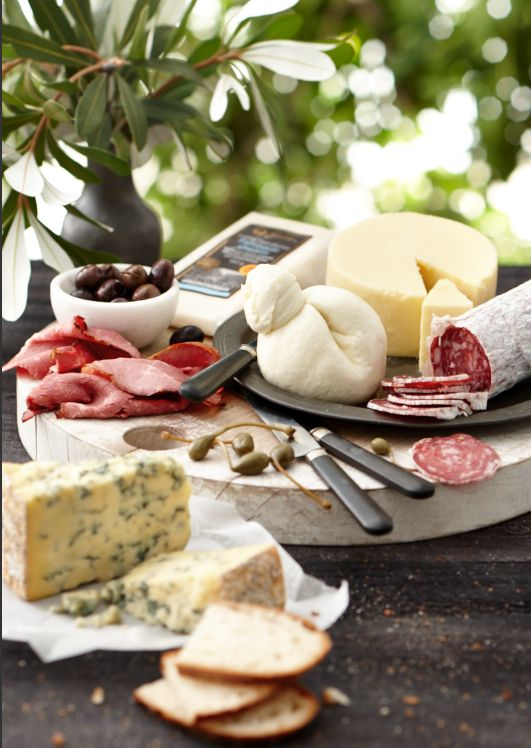 Our amazing Deli Cheeses , English Blue Stilton, Shropshire Blue and Oak Aged Cheddar served with Gold Smoked Waygu Beef and Gold Truffle Salami #Woolworths