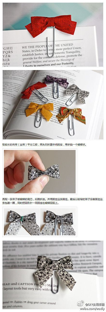 DIY Fabric Clip Bookmark