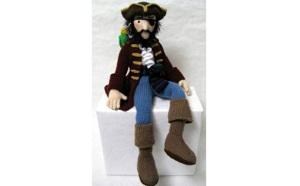 Вязаная спицами кукла. Пират. Описание