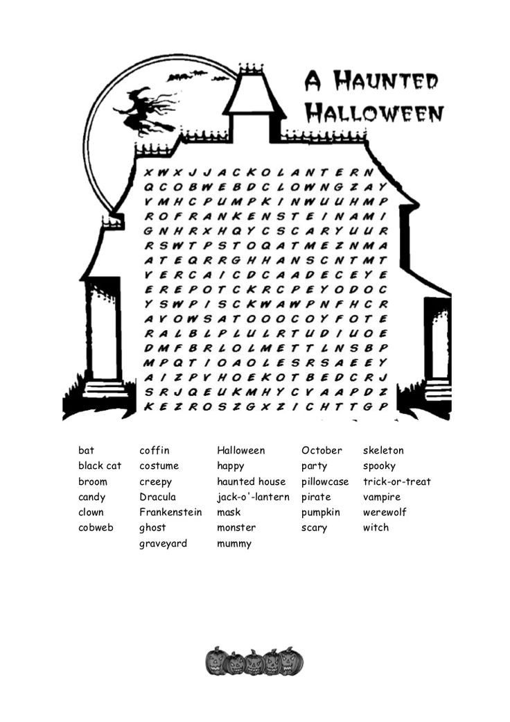 Halloween Coloring Pages And Word Searches : 67 best coloring & activity pages: halloween images on pinterest