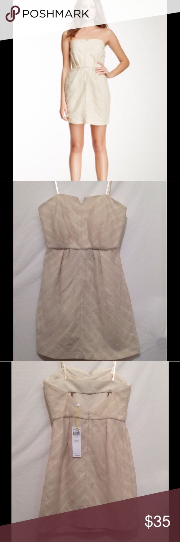 """BCBGeneration strapless beige mini dress Ivory/ Cream/ Beige Strapless Cocktail/Mini Dress Size 2 New With Tags.       Measurements are:  Bust: 31"""" Waist: 26"""" Hips: 35"""", and measures 24"""" from top to bottom hem BCBGeneration Dresses Mini"""
