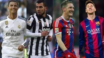 Real Madrid, Juventus, Barcelona y Bayern Munich juegan la ida de las semifinales de la Champions League. May 04, 2015.