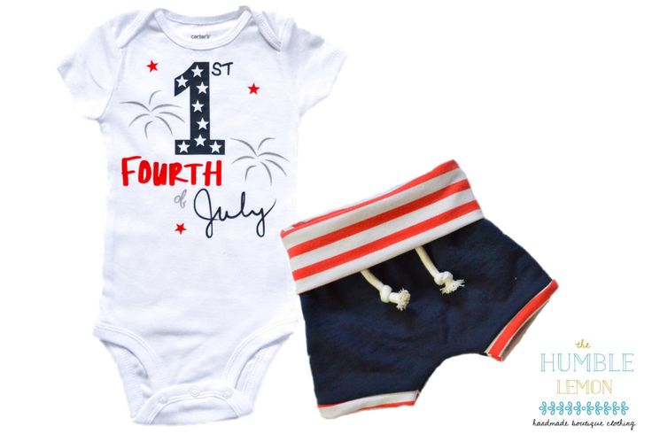 Baby Girl or Baby Boy Patriotic Fourth of July Red, White and Blue Bodysuit Outfit with Navy French Terry Shorts or Leggings by TheHumbleLemon on Etsy https://www.etsy.com/listing/387308836/baby-girl-or-baby-boy-patriotic-fourth