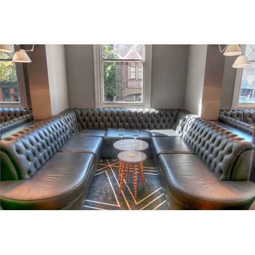 Banquette Seating with Diamond Buttoning