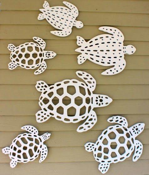 Sea turtle outdoor wall decor.