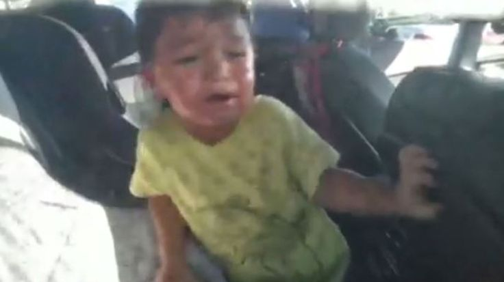 Dad captures rescue on camera after his son accidentally locks himself in hot car