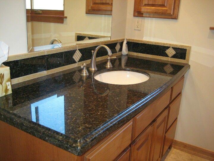 11 best images about finishes on pinterest dark cabinet kitchen kitchen backsplash and cherries Granite backsplash for bathroom vanity